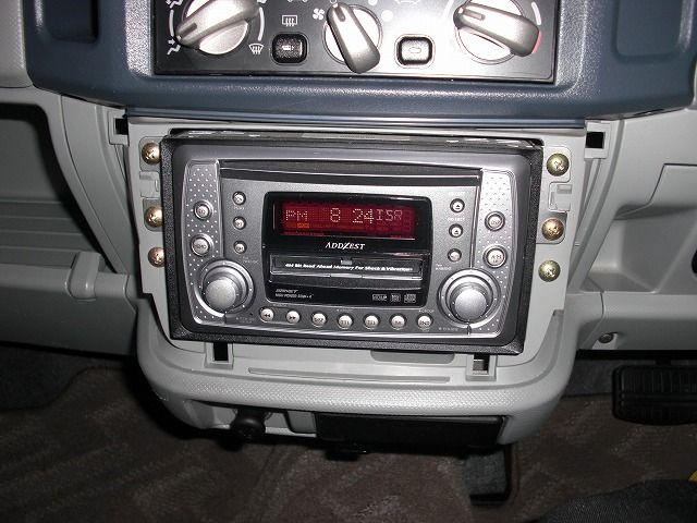 eKアクティブ オーディオ換装途中・・・他ナビ・レーダー電源取りのカスタム手順1