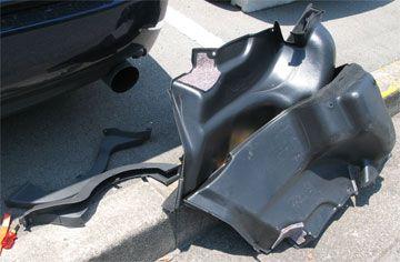 レガシィB4(BL5A) トランク内張り 軽量化