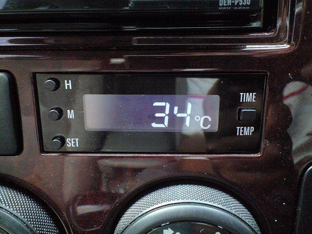 外気温計のバックランプが~②