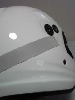 白バイヘルメットレプリカ製作