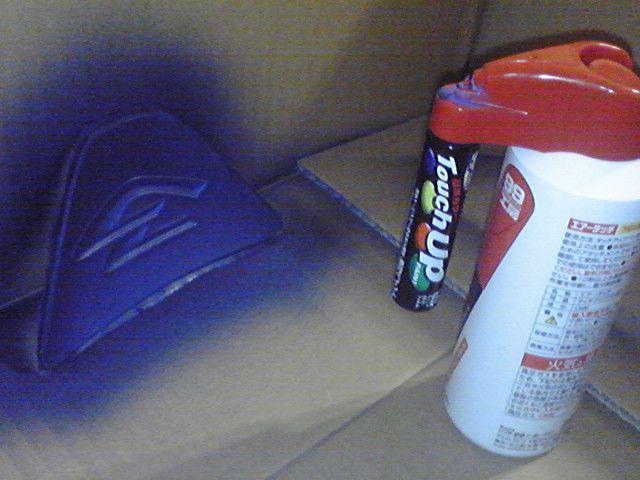 表面をマスキングして全体にスプレーします。<br /> 箱の中にセットしてベランダで塗装を行いました。<br /> 結構飛び散るものですね。<br /> 皆さんもご注意を。<br /> あと、ムラになりやすいので明るいときに塗装したほうがよいかもしれません。