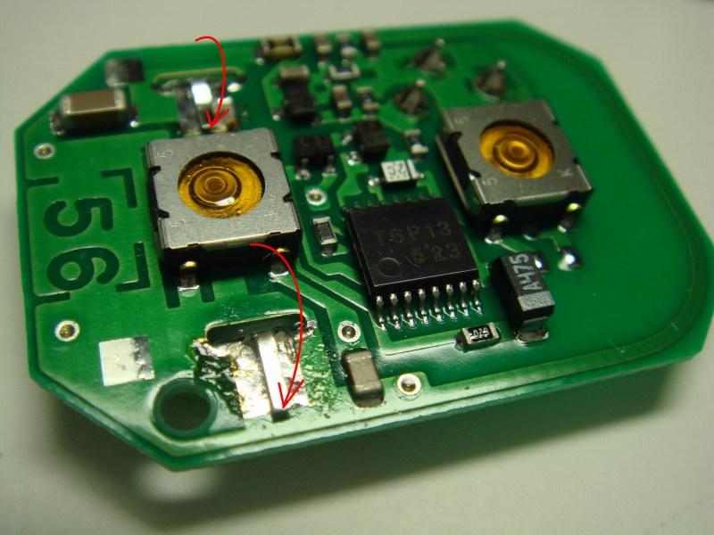 純正キーレス リモコン電池交換③