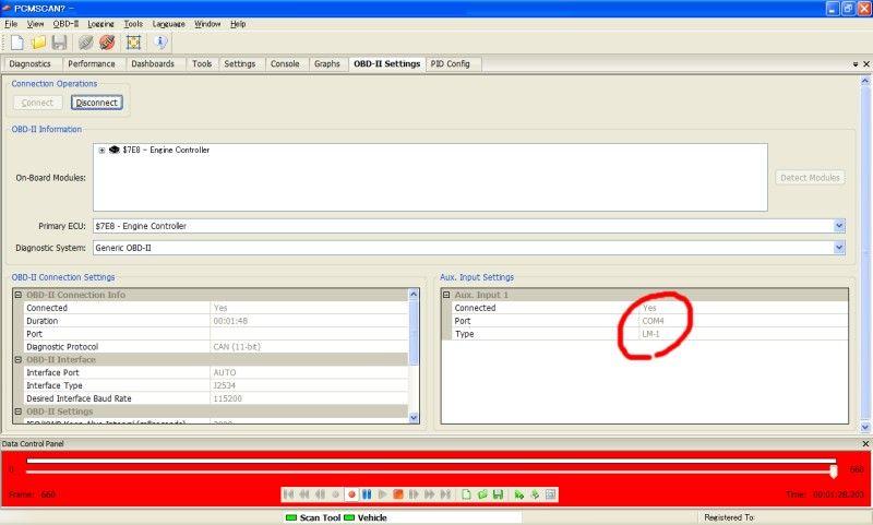 PCMSCAN で LC-1 のログを取る