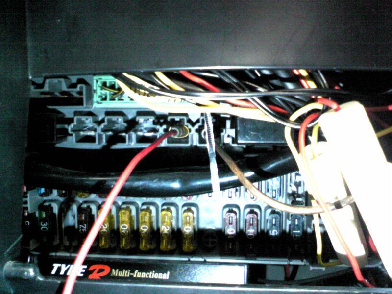 DC系インテグラのイルミ電源取り出し