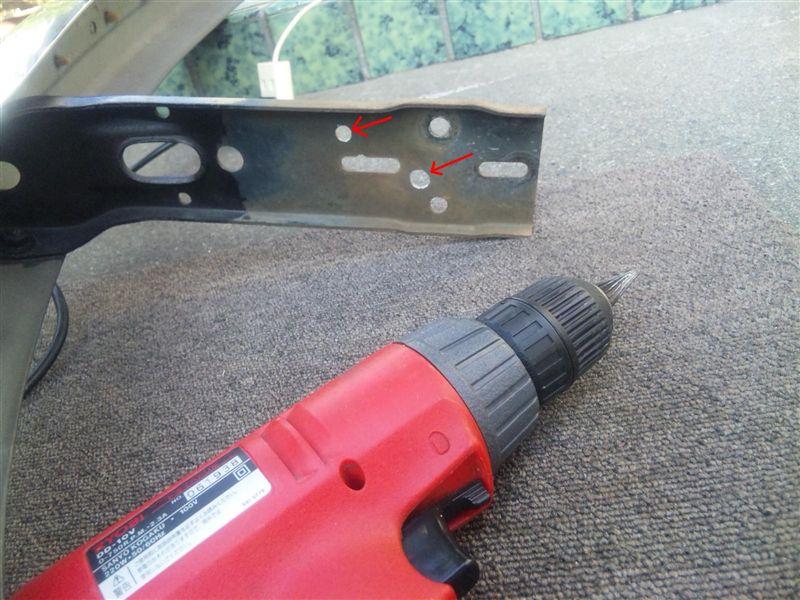 車検対策---バンパーとボディの隙間対策
