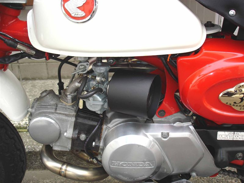 モンキーのパワーフィルターカバーを自作 Mk.3