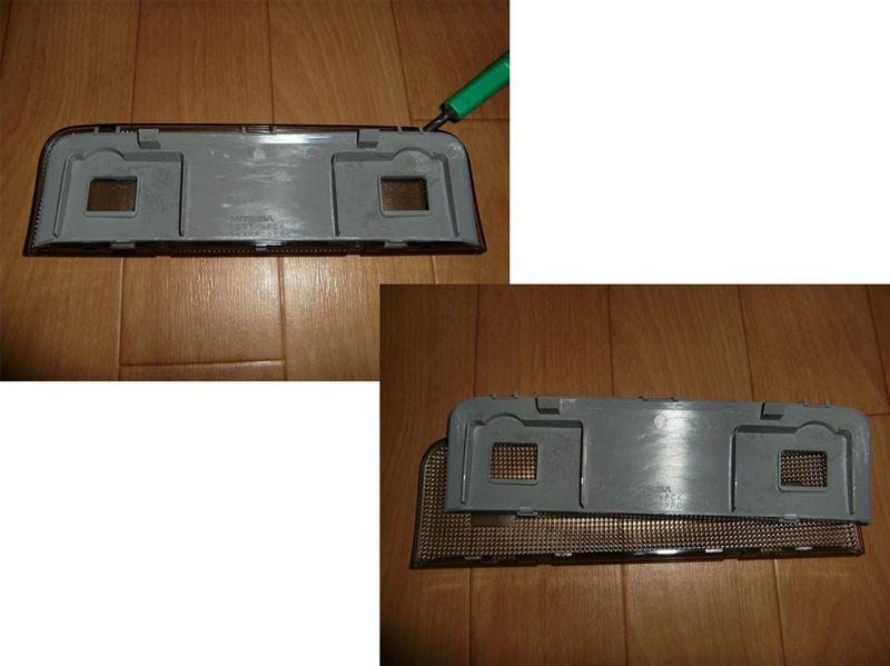 レガシィツーリングワゴン マップランプ/ドア開閉連動化&フロントLEDルームランプ追加 その2のカスタム手順1