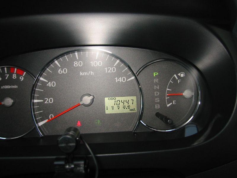mira 1回目車検 10,441km