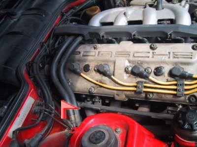 ポルシェ 944S2 エンジン番号の位置