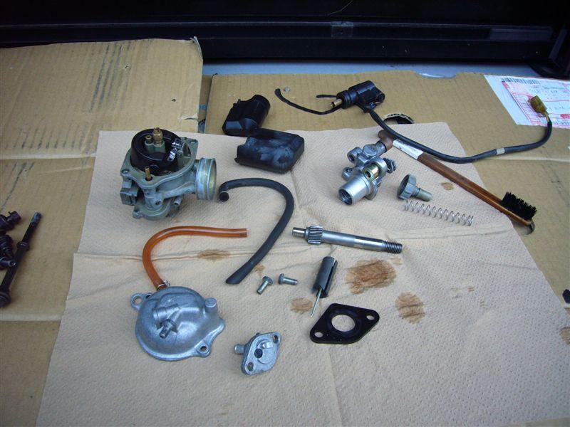 Dio予備エンジンの分解掃除