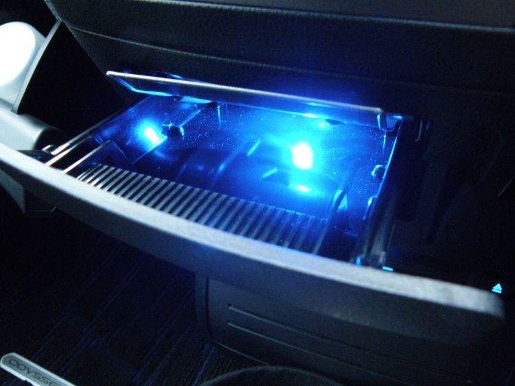 灰皿照明ブルーLED化