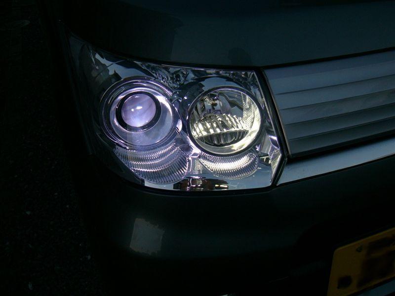 ヘッドライトHID12000k化