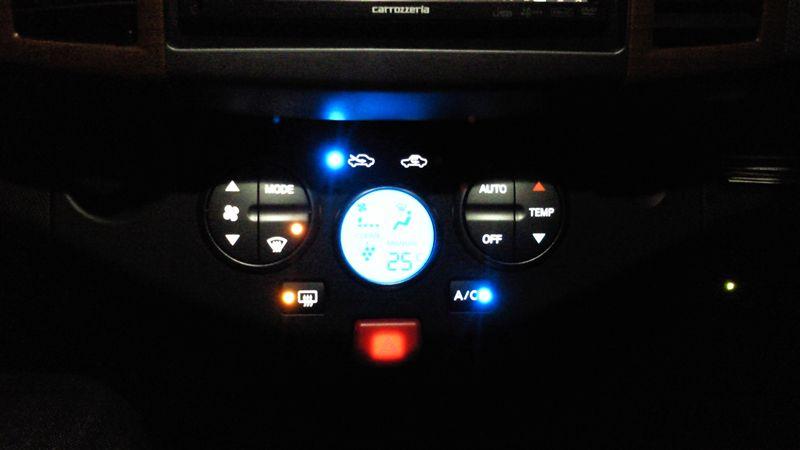 エアコンパネルのLED照明打ち換え その2