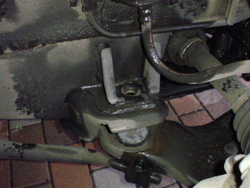 フロント薄型バンプストッパー交換&アジャストプレート装着