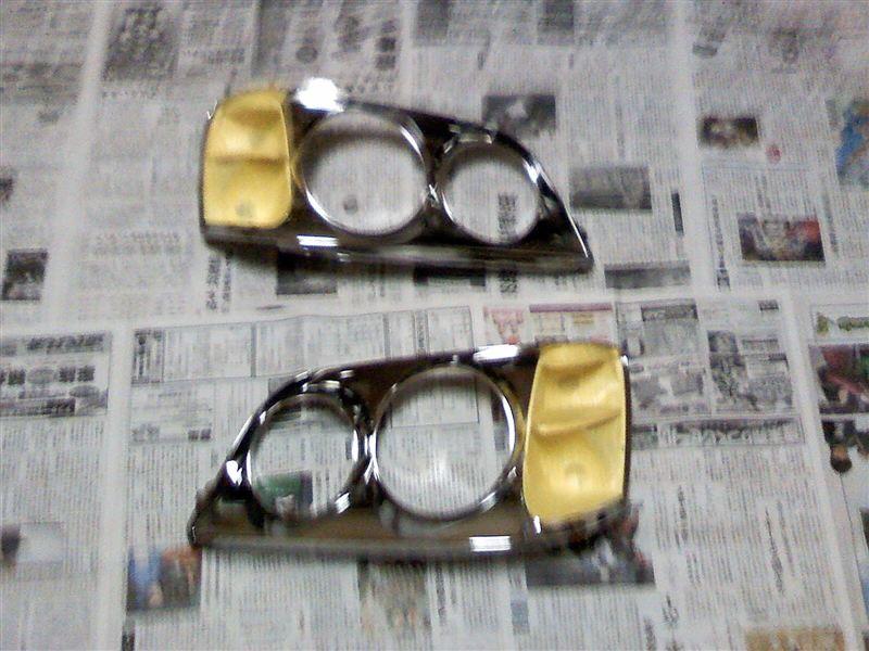 CCFLイカリング取り付け&ヘッドライトインナー塗装