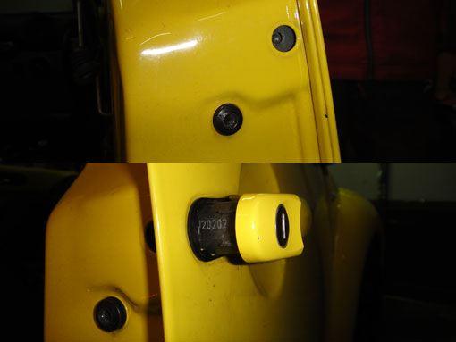 ニュービートル ドアスイッチ修理