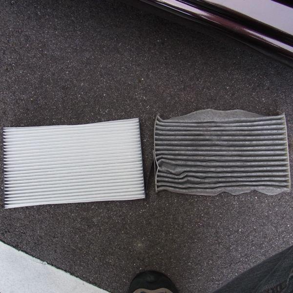 Z12キューブ エアコンフィルター交換
