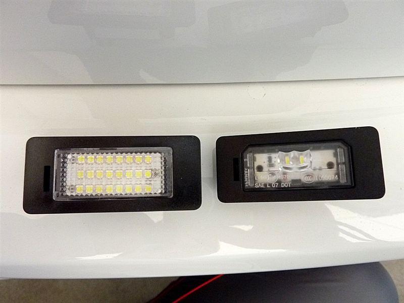 3シリーズ ツーリング ノーブランド LEDナンバー灯のカスタム手順1