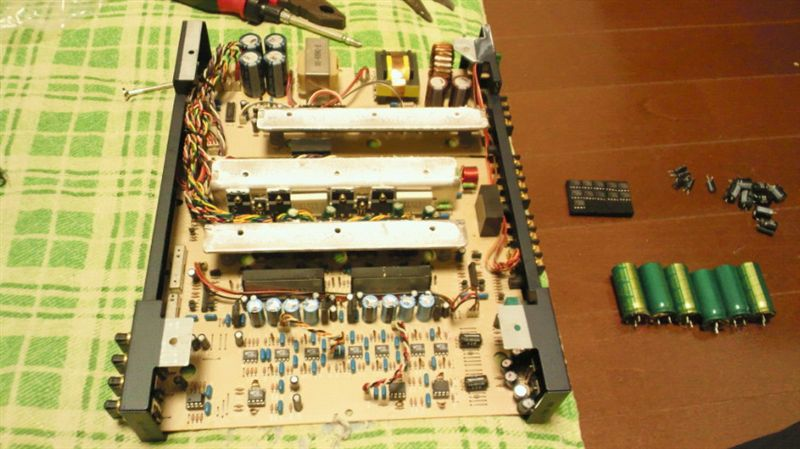 APA4200 オペアンプ&コンデンサ交換