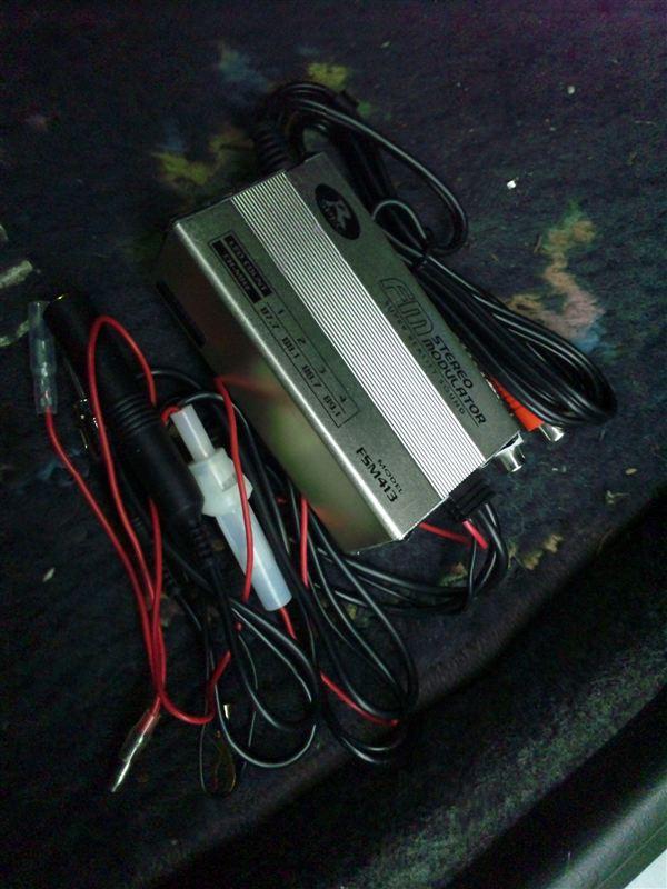 オーディオビジュアル > カーオーディオ、ビジュアル >FMモジュレーター取り付け