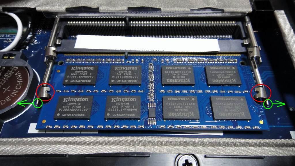 acer Aspire AS5742-F52D/K メモリ交換①