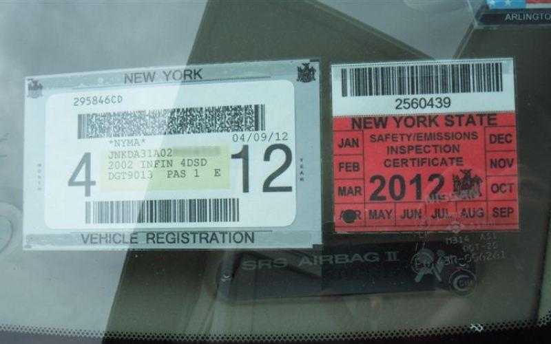 New York State Inspection Sticker i