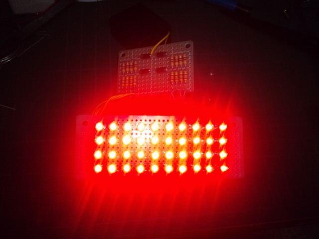 自作LEDテールランプ