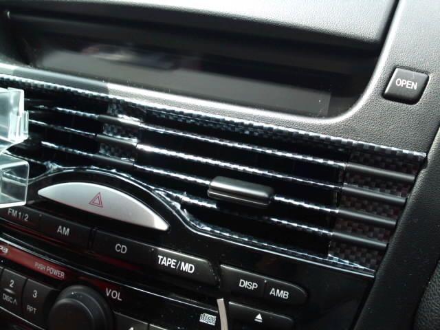 エアコン通気口をカーボンシート化