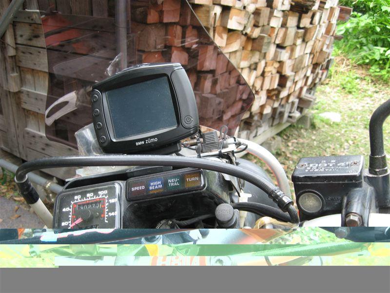 XLX250R ナビ 取り付けのカスタム手順2