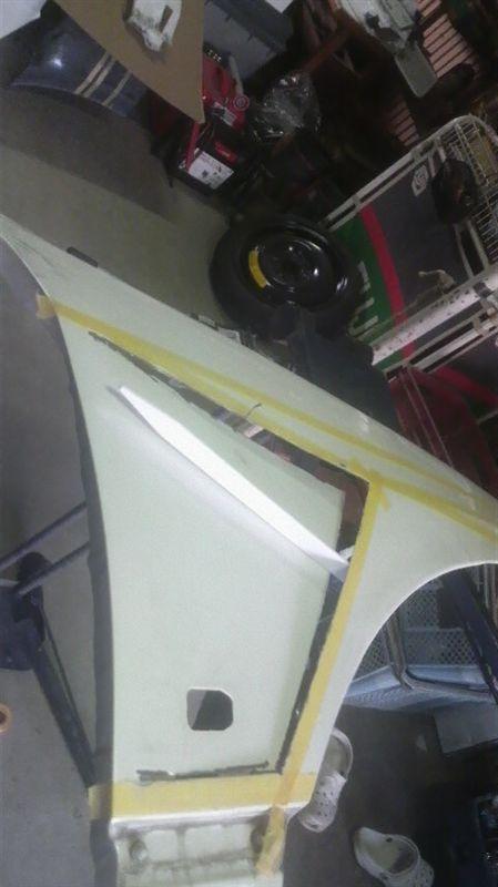 Garage28オリジナル 純正フロントフェンダーダクト加工