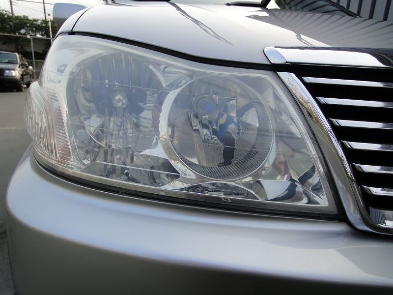 RINREI ヘッドライト&樹脂パーツ 透明復元コート 施工