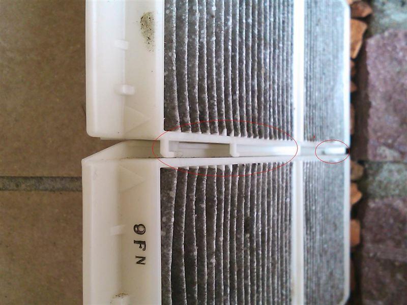 エアコン フィルター交換