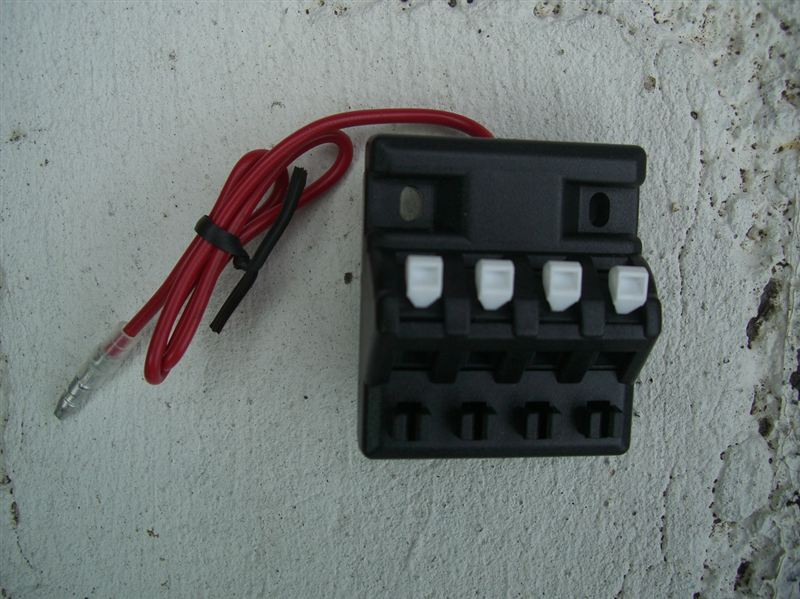 【C26】ヒューズ電源取り出しと電源分岐ターミナル取り付け