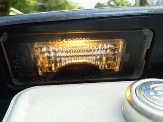 MINI ナンバー灯LED化のカスタム手順1