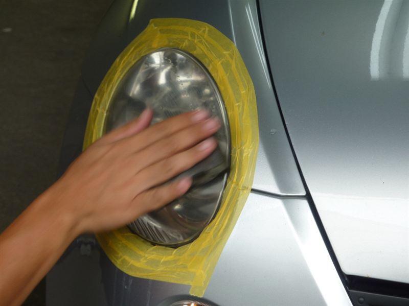 ブリスコーティング (4回目) & ヘッドライト磨き