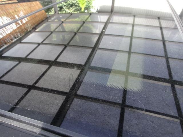 ガラスの油膜除去