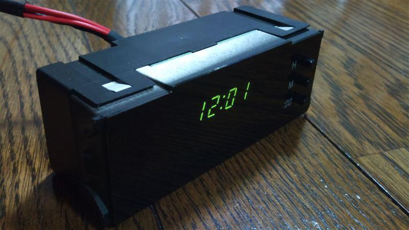 インパネ時計(2代目)加工①