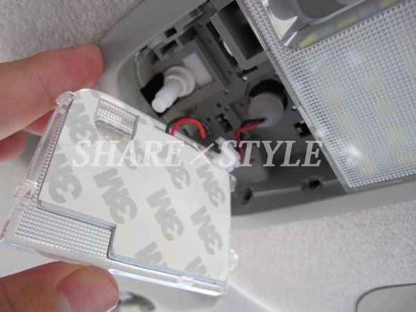 【シェアスタイル】ムーヴ/ムーヴカスタム LEDルームランプ取付 フロントセンターランプ