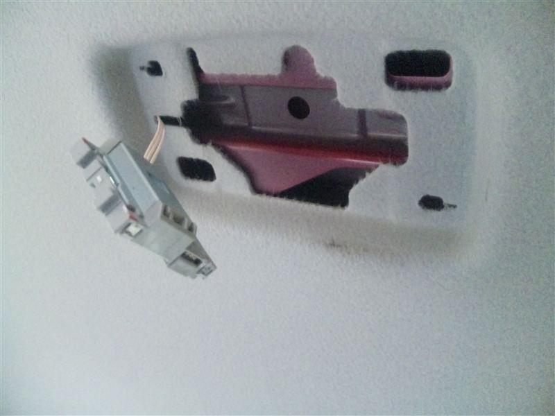 プラズマクラスター搭載LEDルームランプ取り付け