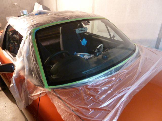 フロントガラスのウォータースポットと油分の除去