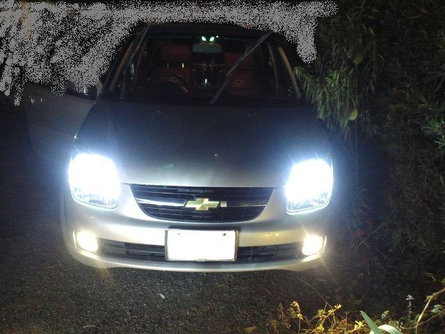 シボレー クルーズ (初代スイフト兄弟車) ヘッドライト HID化w