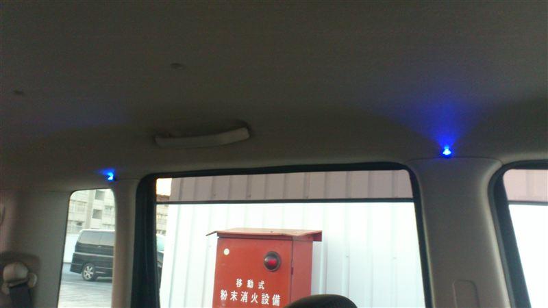 車内にイルミ付けてみた。