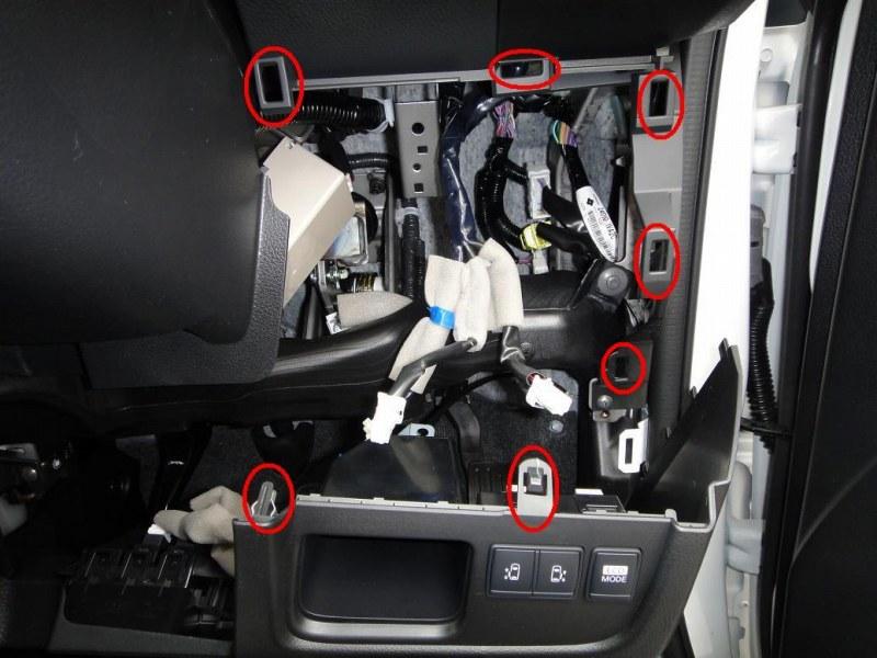 【C26】フロント周りの内装取り外し方法⑤(オーディオパネル・ハンドル下カバー)