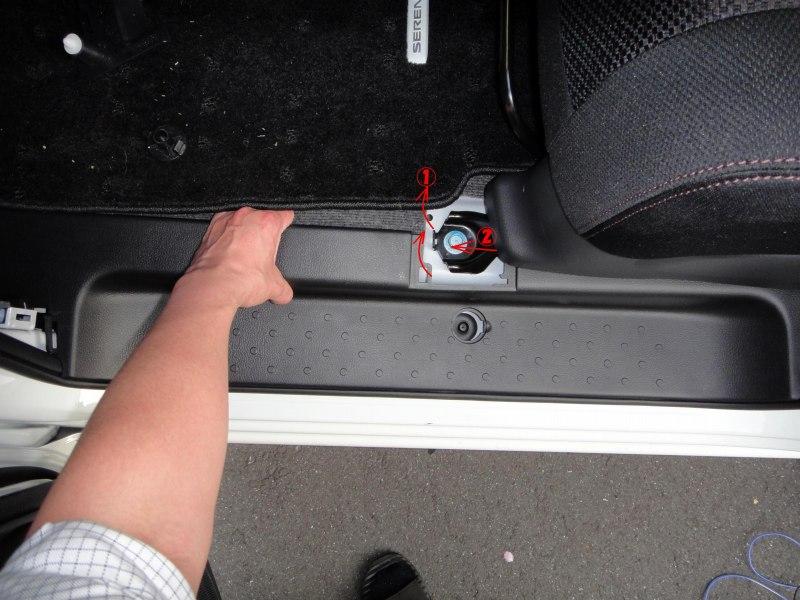 【C26】バックドア~フロントまでの通線ルート内装取り外し方法