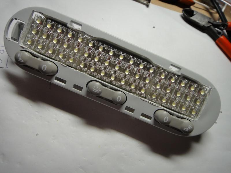 【C26】日亜化学製LEDルームランプ(フロント)製作③
