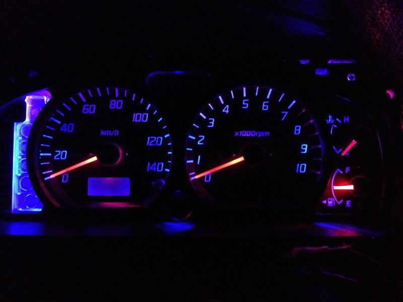 メーター針用赤色LED追加加工 ②