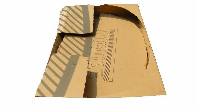 バラスポに フロントディフューザー 型紙&仮合わせ