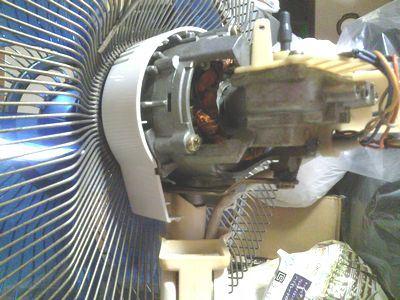 扇風機のコンデンサ交換