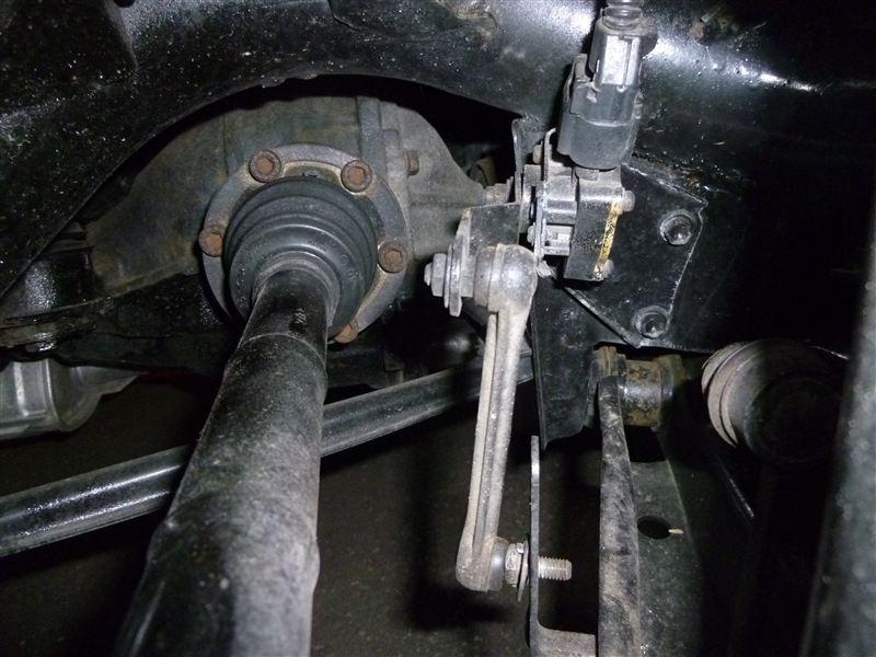 オートレベライザー警告灯解除(センサー修理)