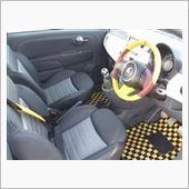 FIAT500 ステアリング交換 オシャレなステアリングの画像